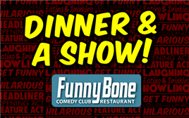 Dinner & Show Package with Tony Rock