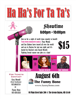 Ha Ha''s For Ta Ta''s Pink Ribbon Girls Fundraiser