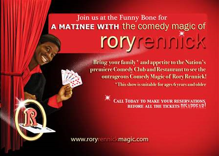 ***FAMILY FRIENDLY*** The Comedy Magic of Rory Rennick