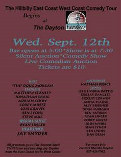 Benefit for Comedian Jay Snyder & Second Shelf Dayton / Hillbilly East Coast West Coast Comedy Tour